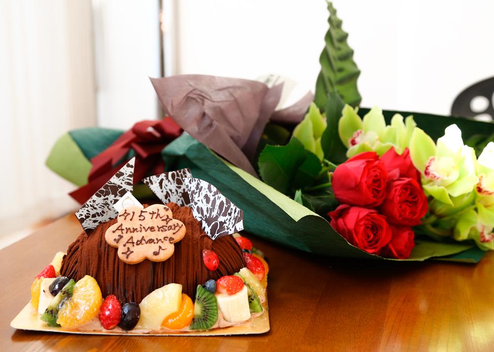 15周年ケーキ
