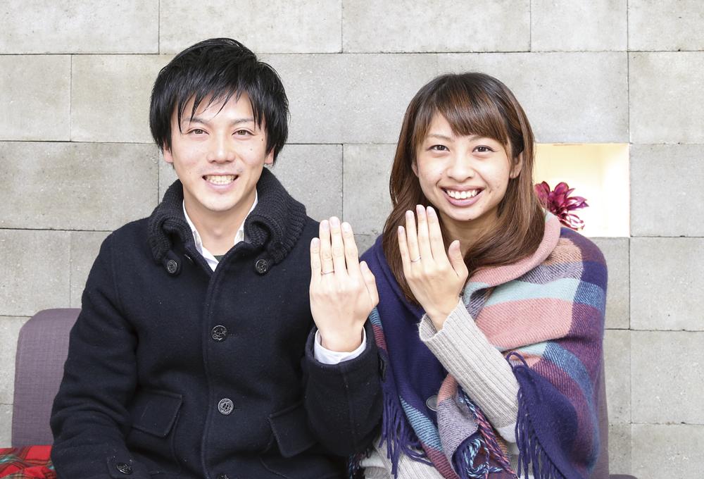 重田夫妻マリッジリング